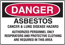 Asbestos Hazard Sign 2