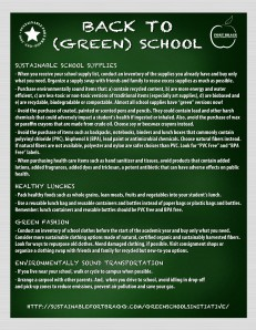 Back to Green Schools