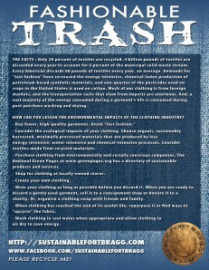 Fashionable Trash flier